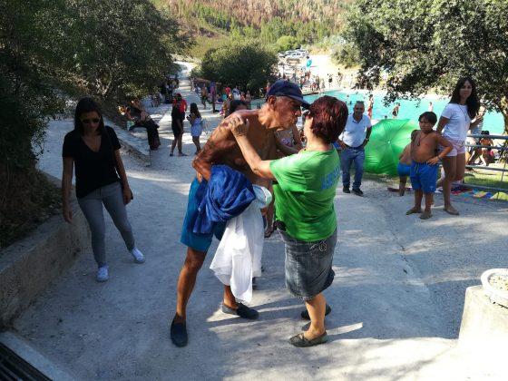 Marcelo rebelo de Sousa na Praia Fluvial de Cardigos